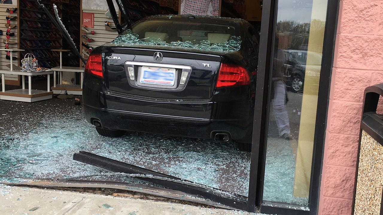Car smashes into Payless shoe store off New Bern Avenue at New Hope Road in Raleigh