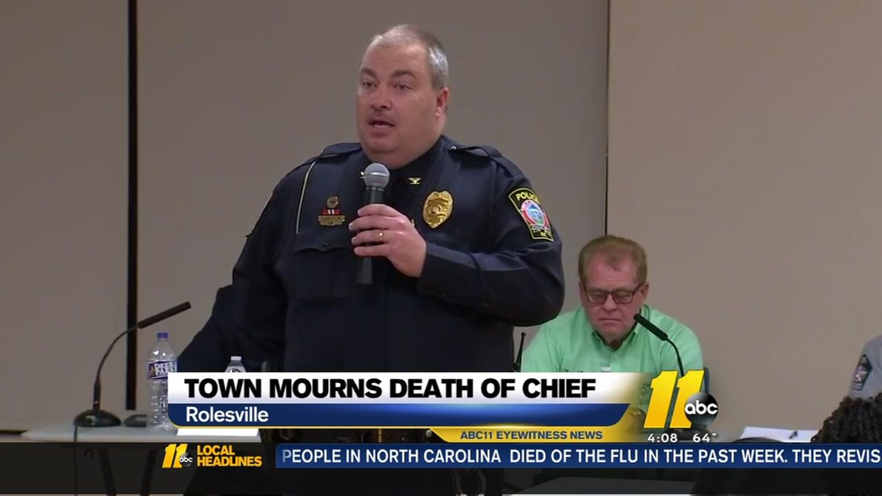 Rolesville mourns police chief