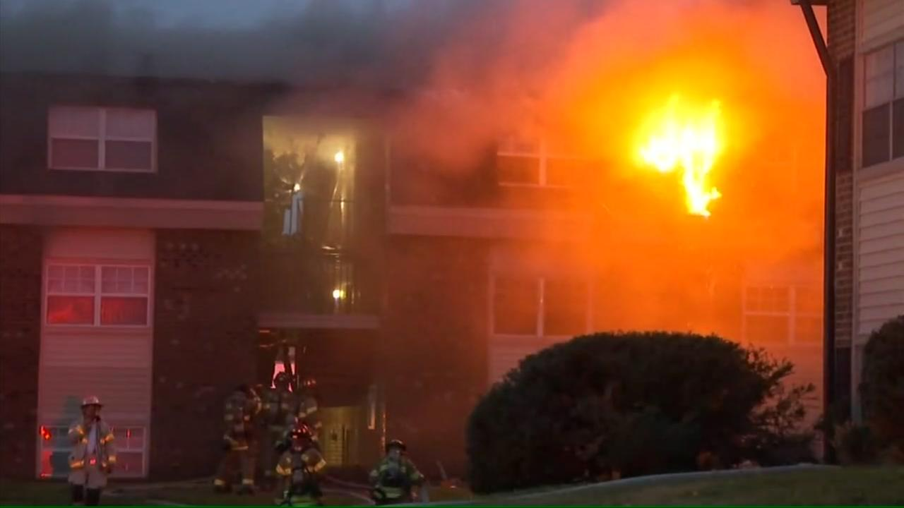 Raleigh apartments heavily damaged by fire
