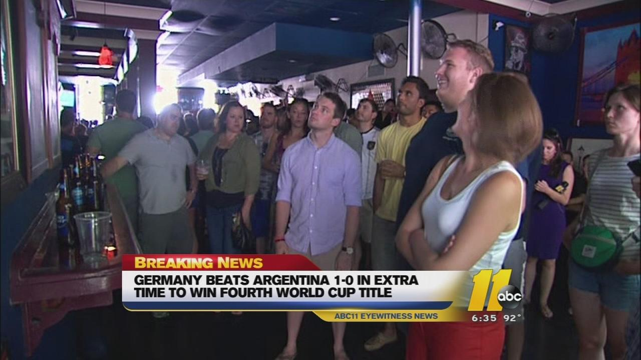Fans Gather for World Cup Watch Party in Downtown Raleigh