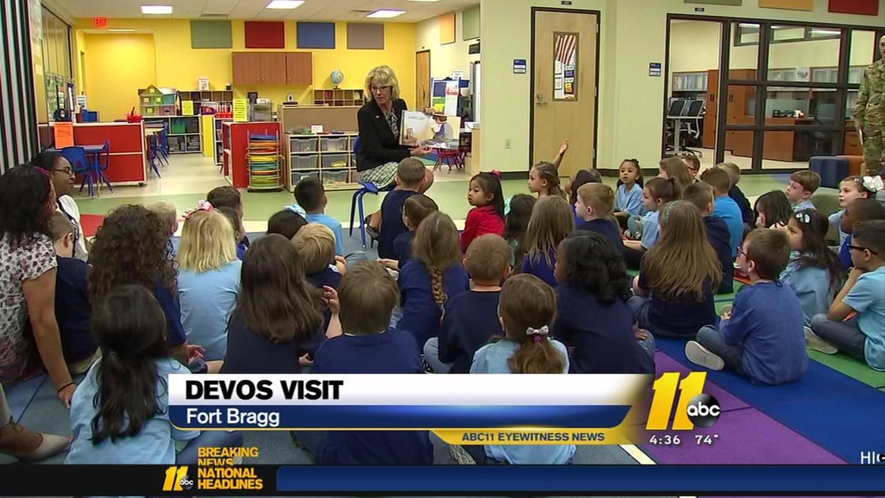 Betsy DeVos visits Fort Bragg