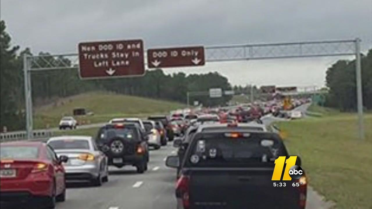 Backups at Fort Bragg frustrating drivers