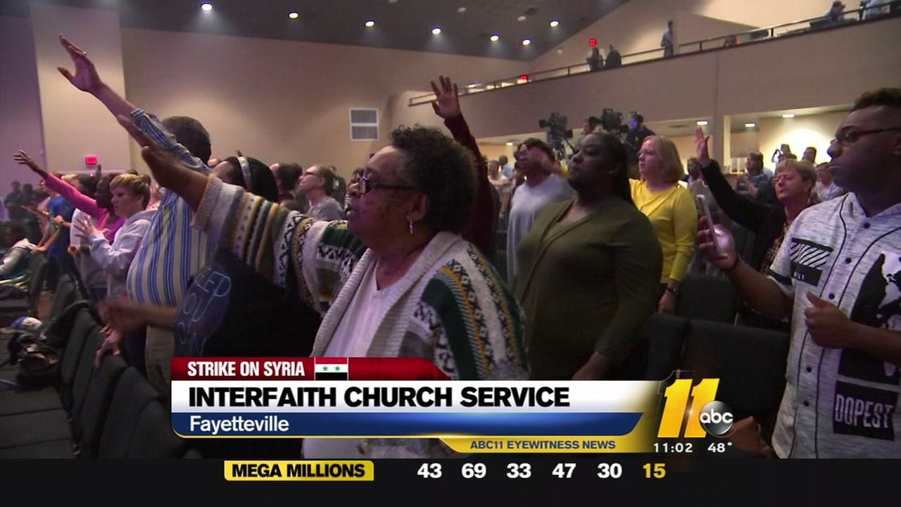 Interfaith church service in Fayetteville
