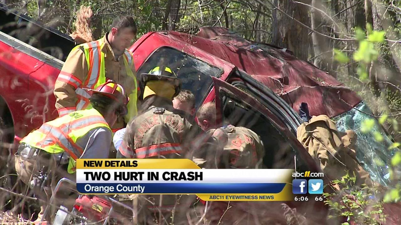 2 injured in I-85 crash in Orange County