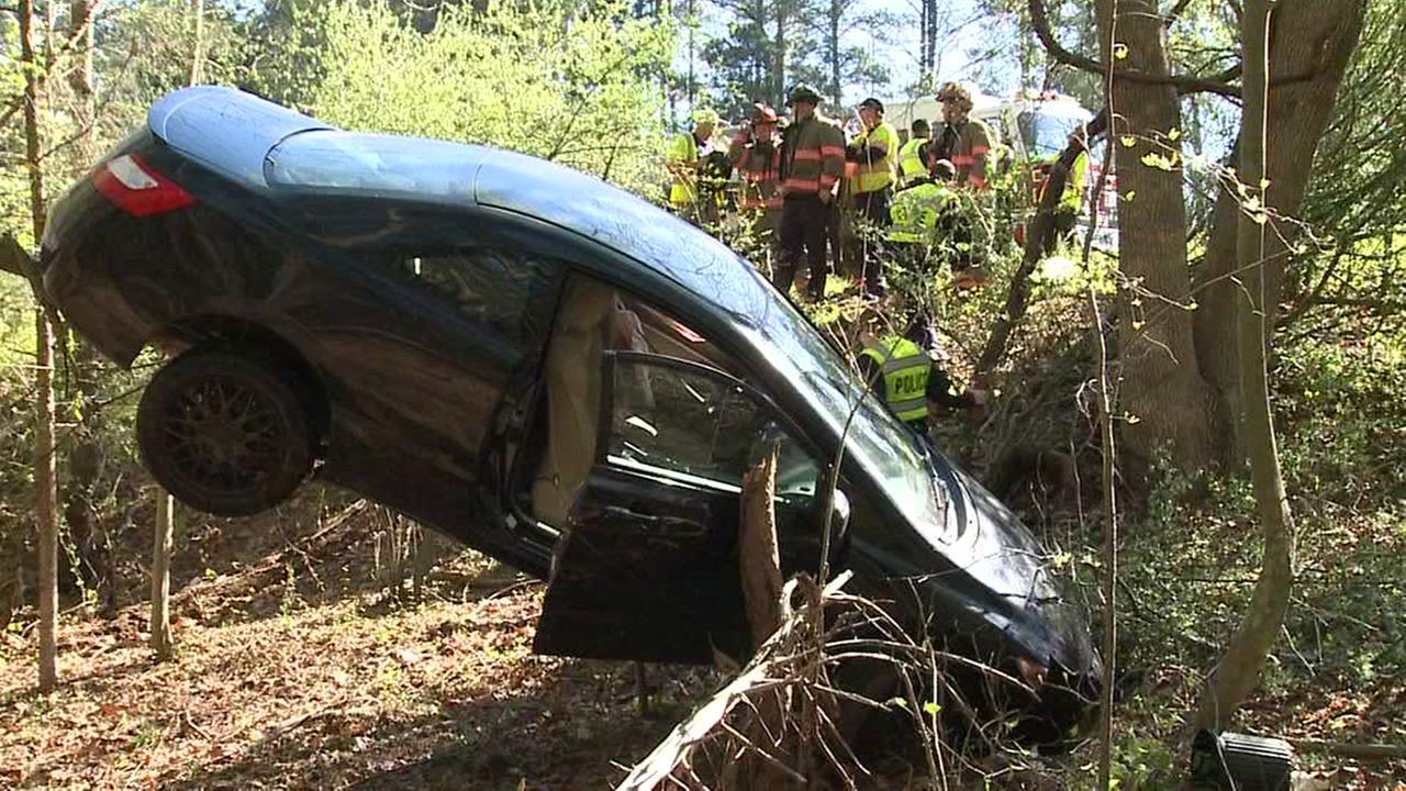 Car careens off 15-501 in Durham
