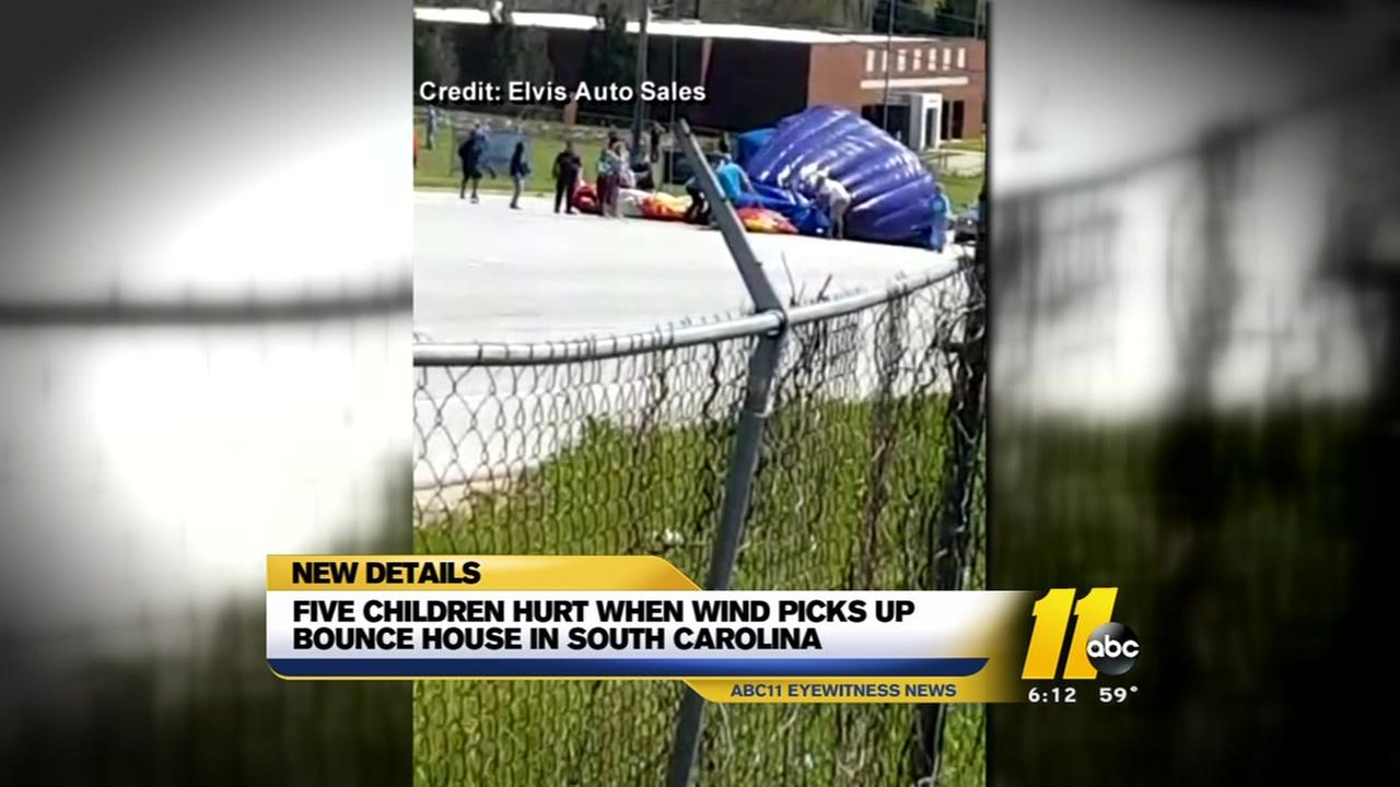 5 children hurt as bounce house goes airborne in South Carolina