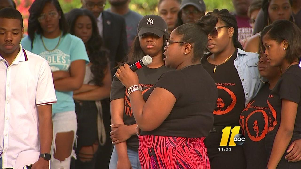 Students gather to remember NCCU freshman