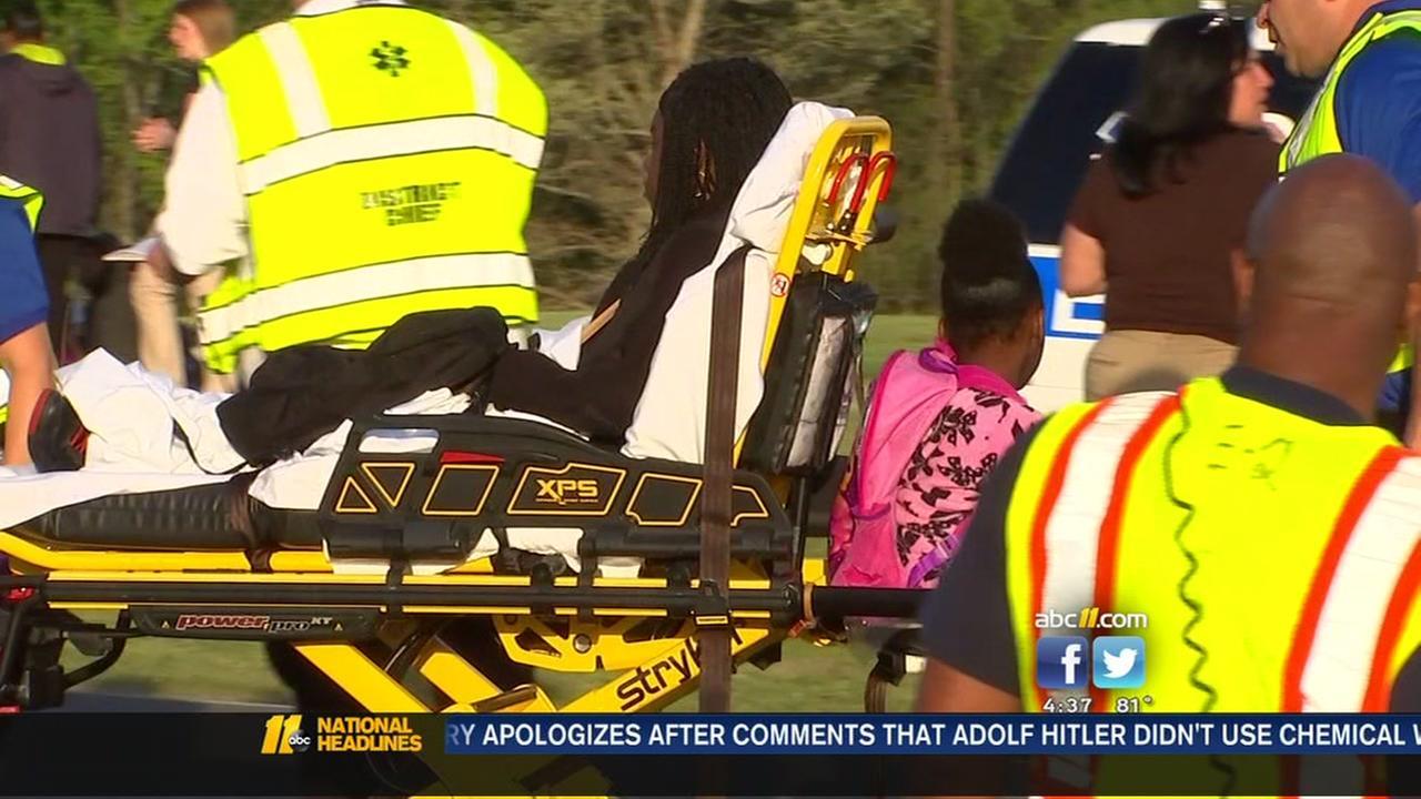 12 students hurt in school bus crash