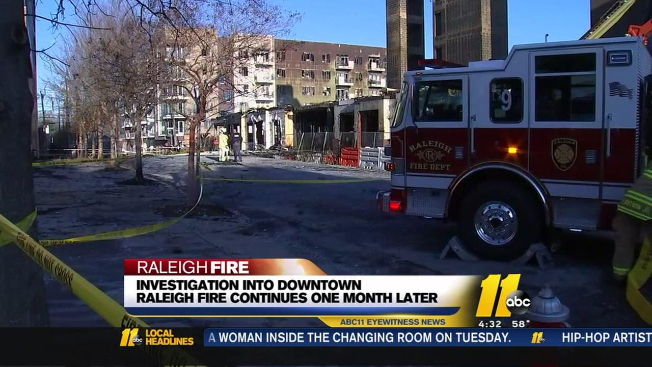 Investigation into downtown Raleigh fire continues one month later