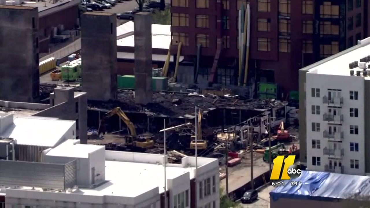 Latest on downtown Raleigh fire