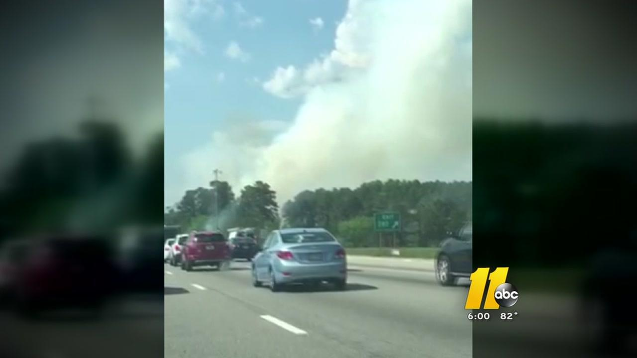 Fire closes right lanes of I-40 Westbound near exit 282