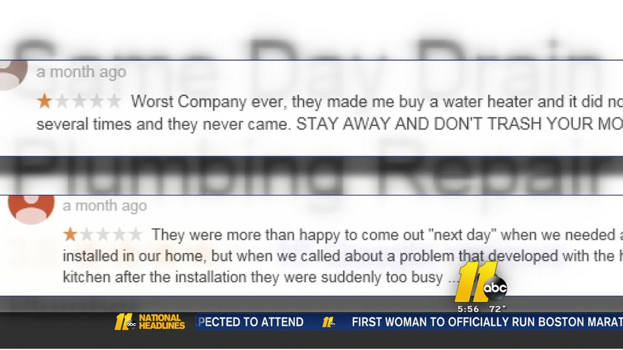 Cary family says plumber demanded they take negative reviews down
