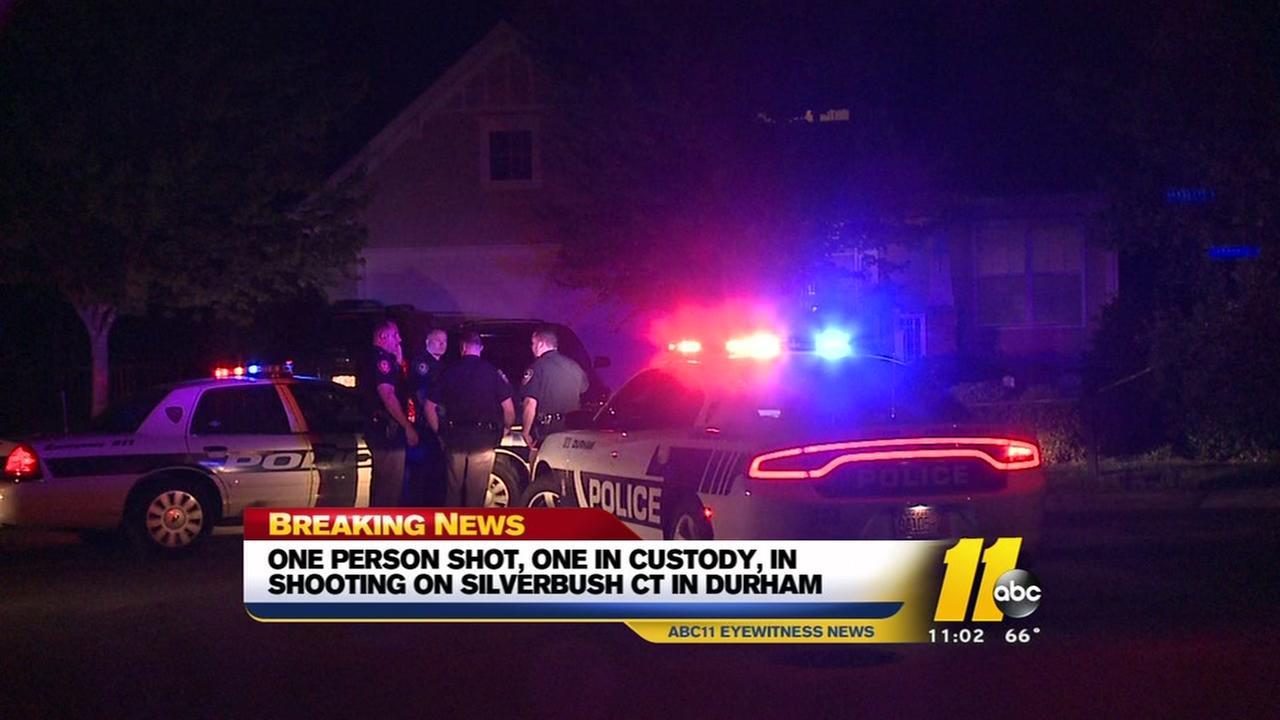One shot, one in custody in Durham shooting