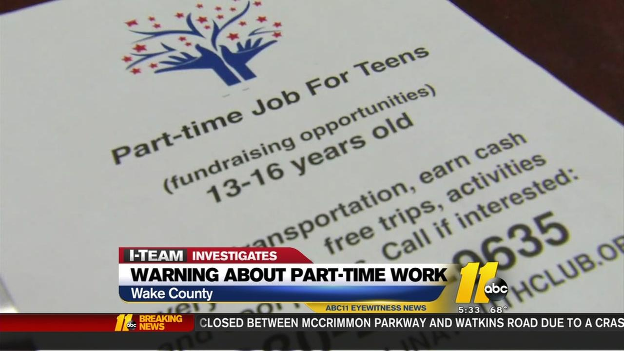 Watch out for teen-job scams