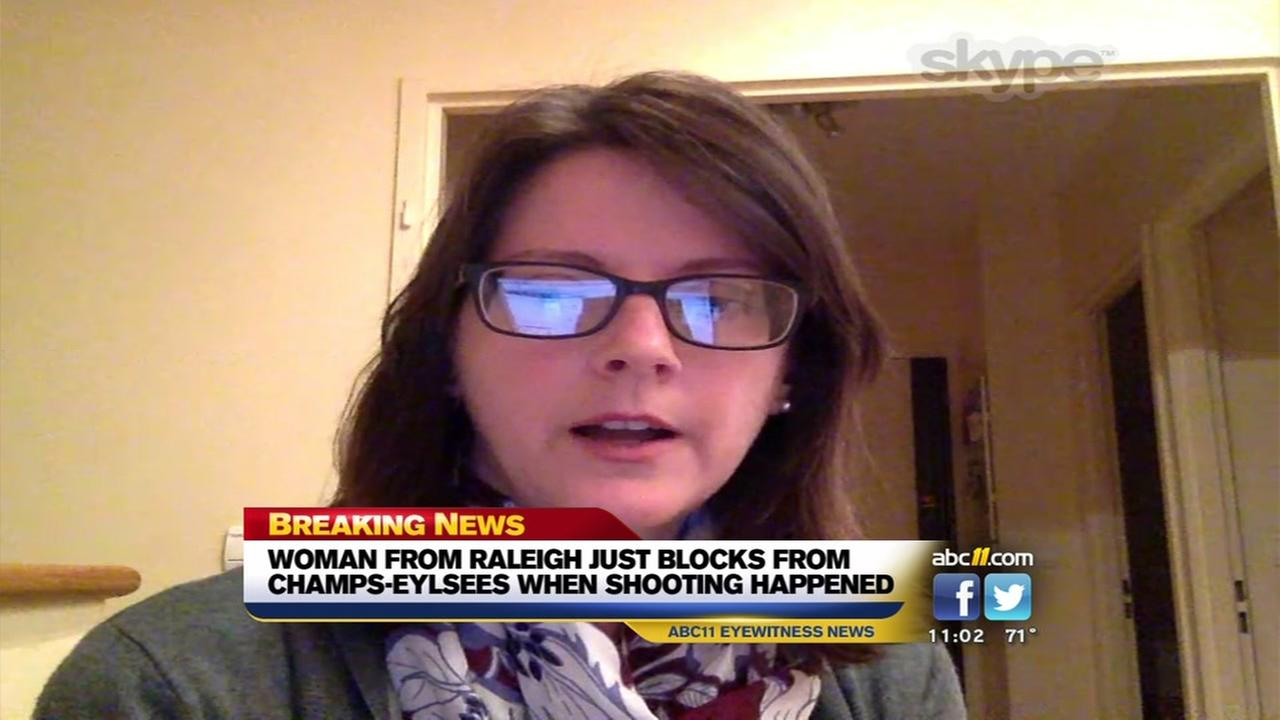 Woman from Raleigh was near Paris terror attack