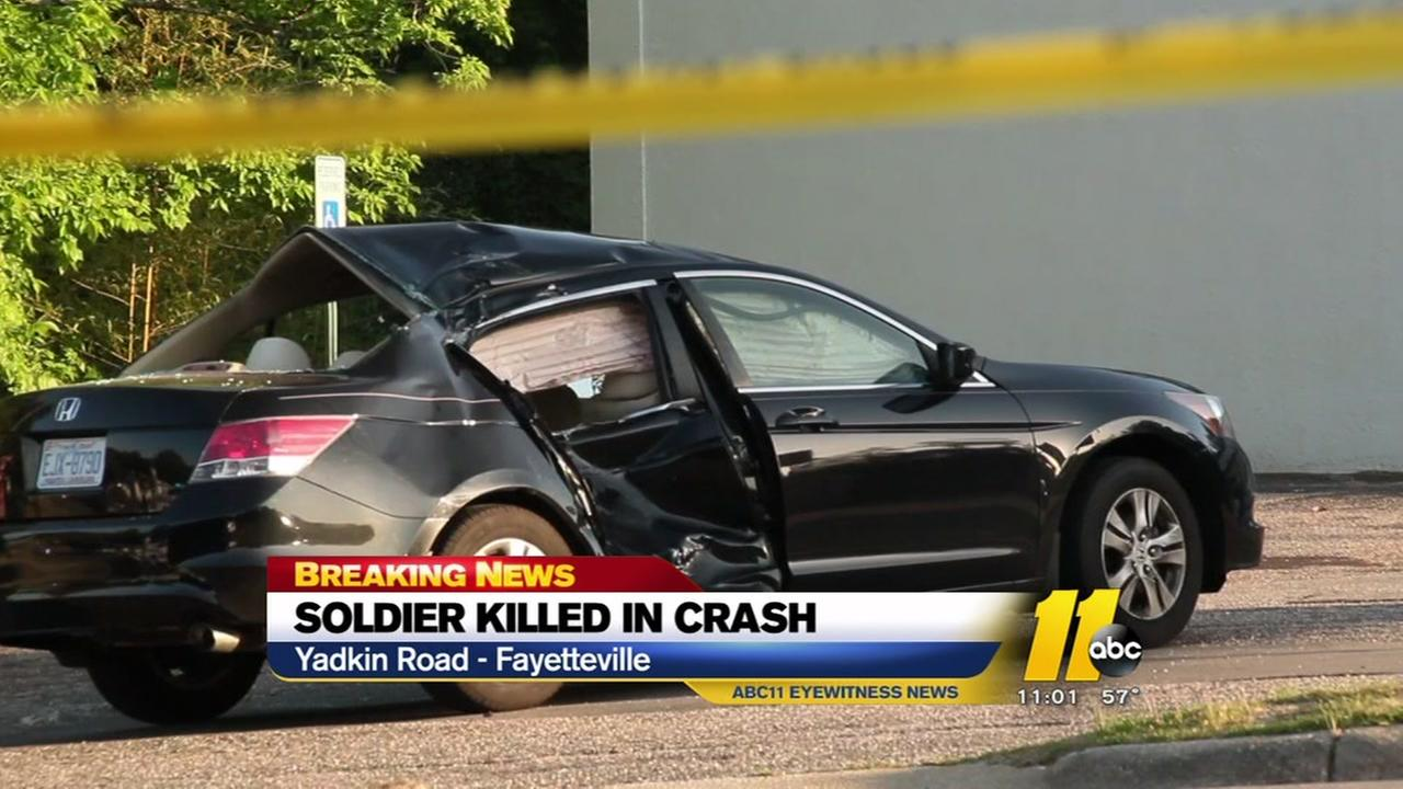 Fort Bragg soldier dead after fatal wreck on Yadkin Road