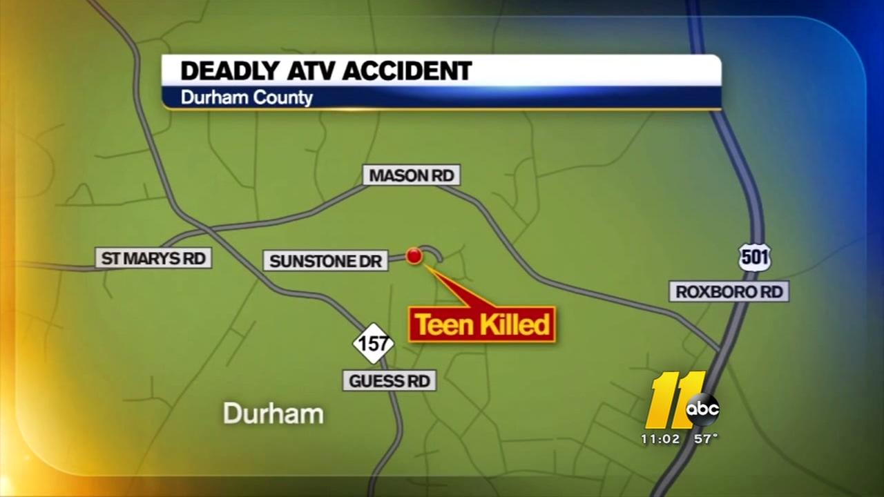 Durham teen killed in ATV accident