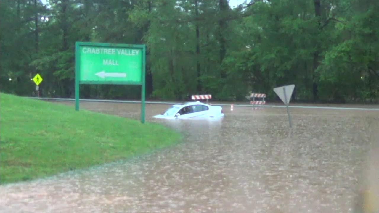 Water rescues as drivers try to get through high water
