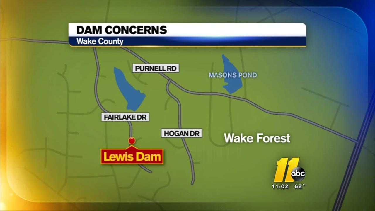 Concerns over Lewis Dam in Wake County