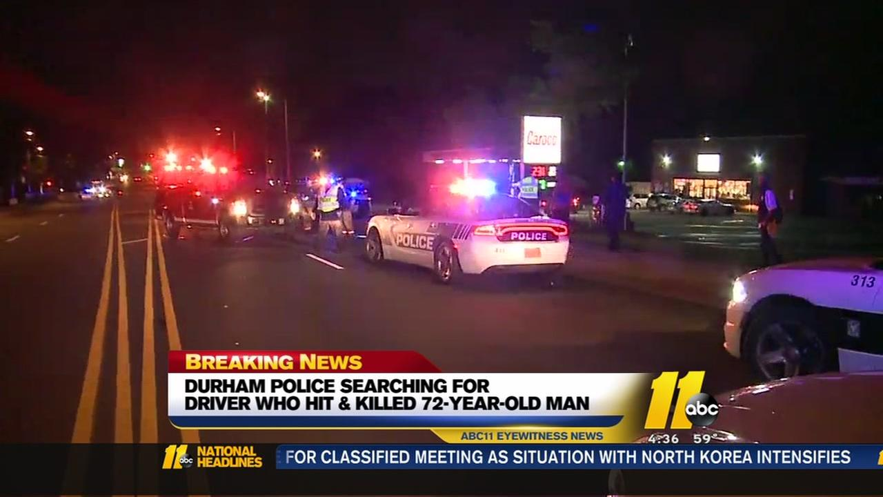 Durham police searching for driver who hit and killed a 72-year-old man