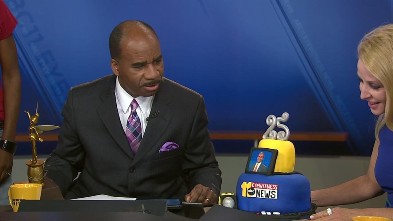 Anchor John Clark celebrates 25 years at ABC11