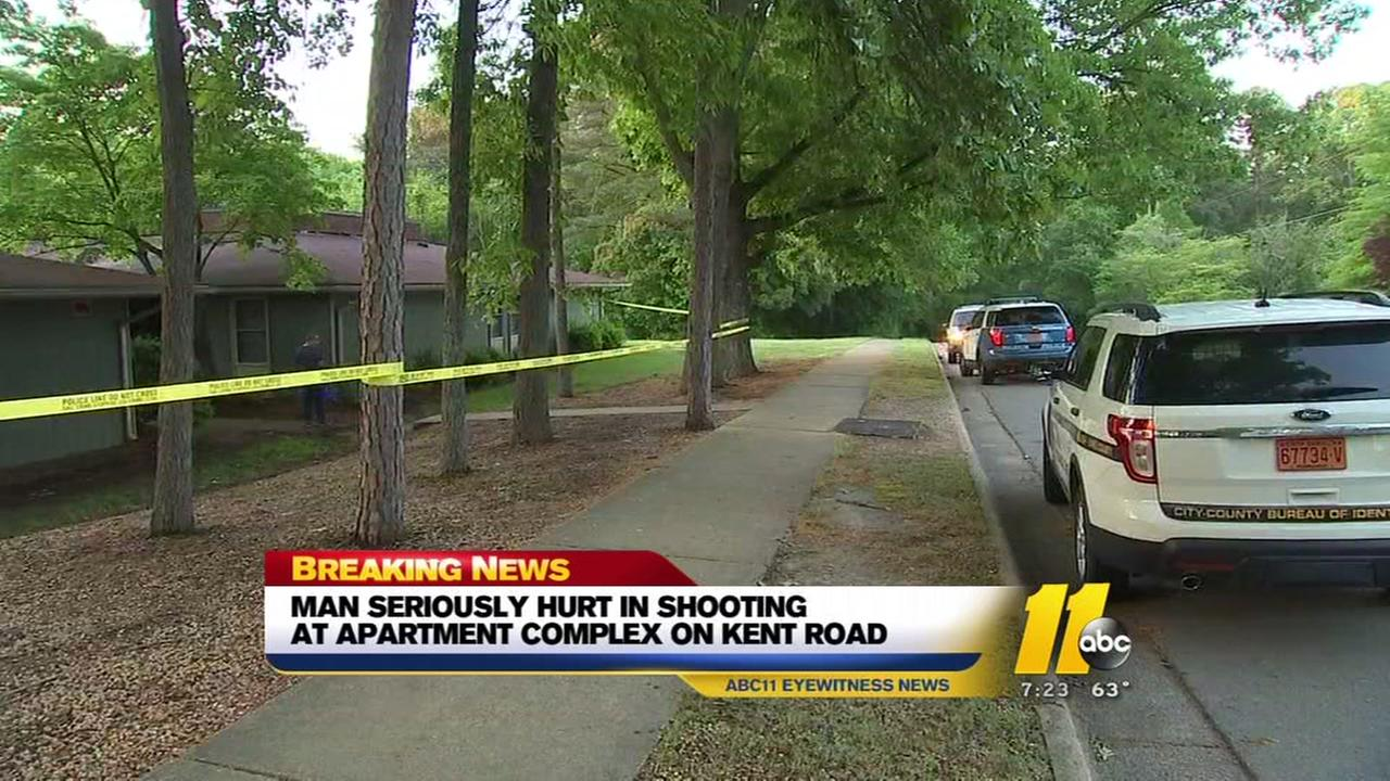 Man seriously hurt in Raleigh apartment shooting