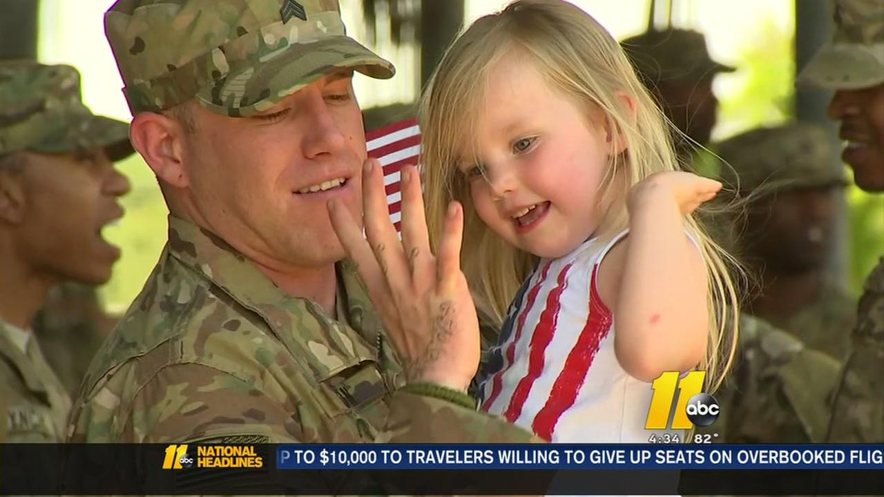 Fort Bragg soldier return home from deployment