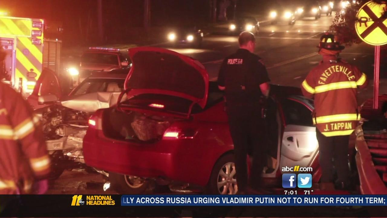 Crash investigation in Fayetteville