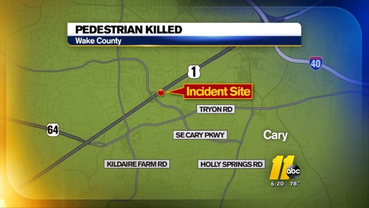 Pedestrian walking on U.S. 1 in Cary hit and killed early Sunday morning