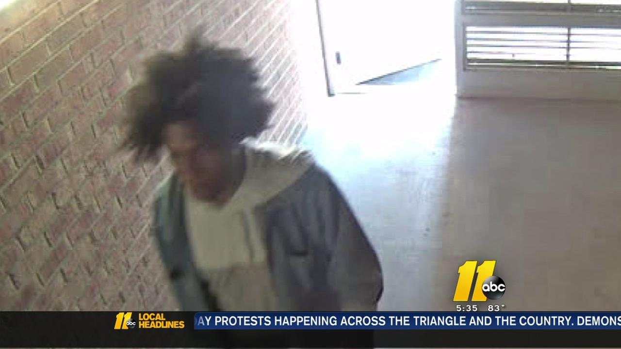 NC State police searching for susoect who grabbed woman on campus