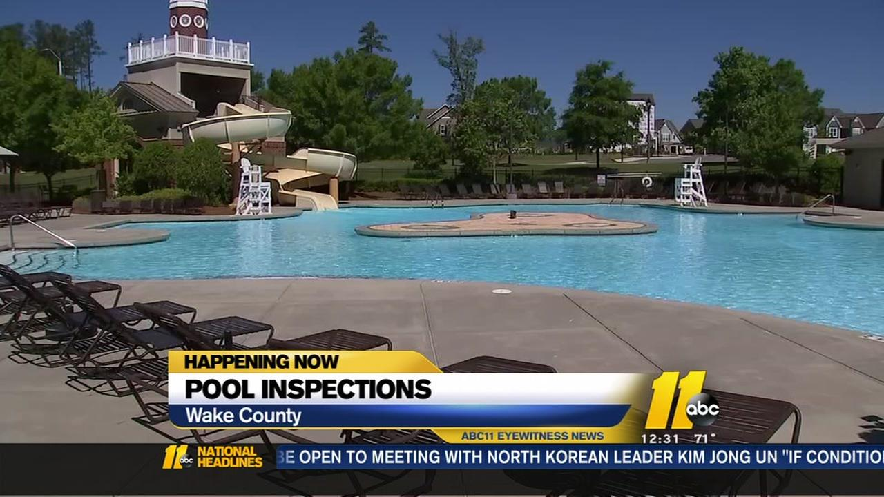 Wake County busy checking pools ahead of summer