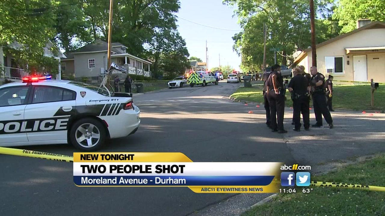 Two people shot in Durham