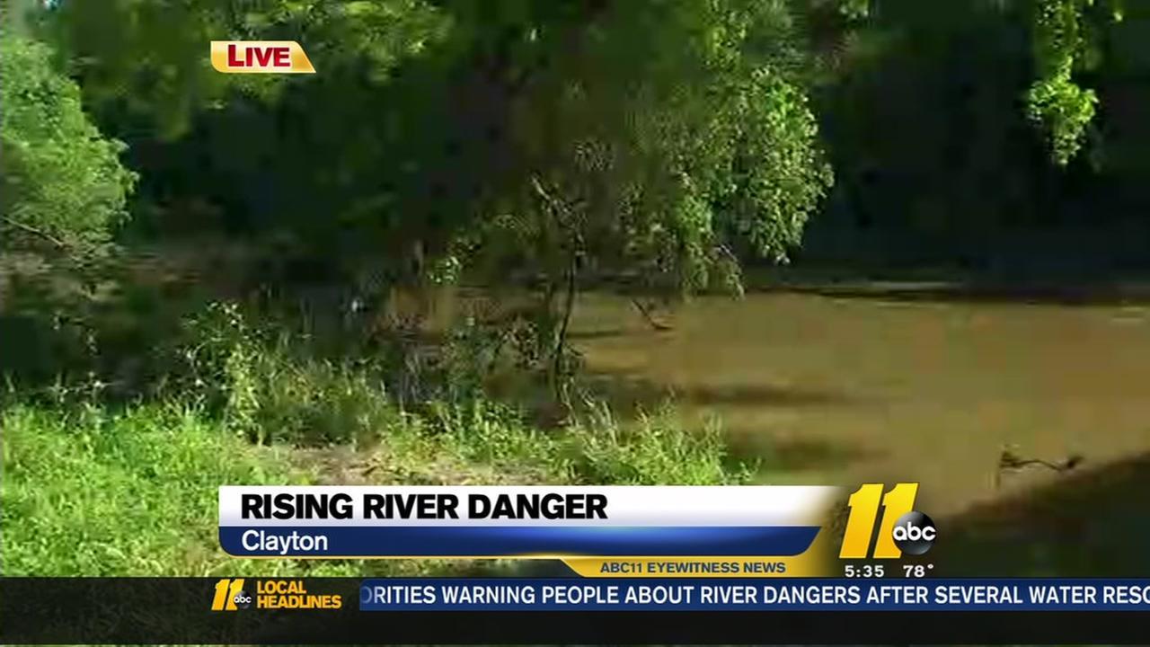 Rising river danger