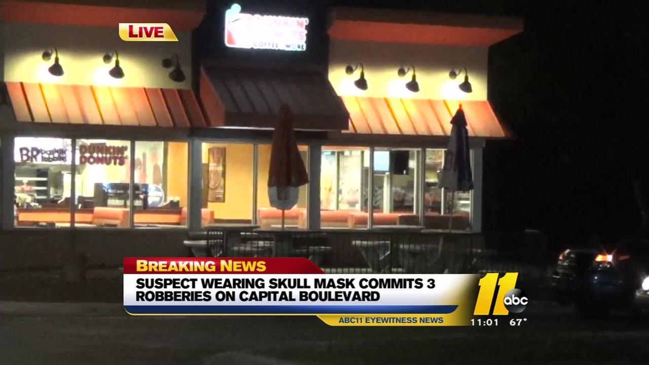 Masked man robs three restaurants on Capital Boulevard