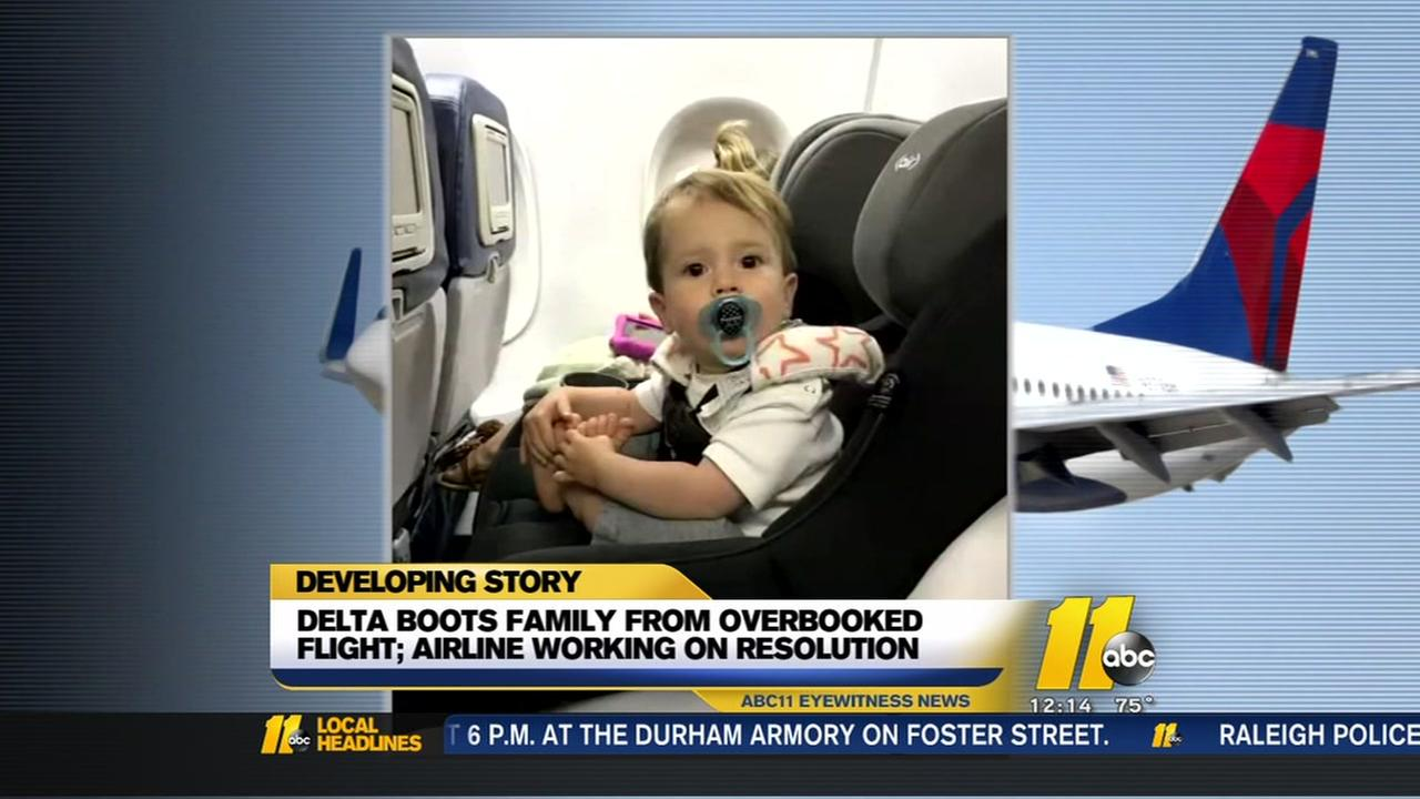 Delta boots family from overbooked flight