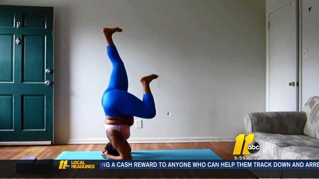 Yoga teacher encourages body positivity