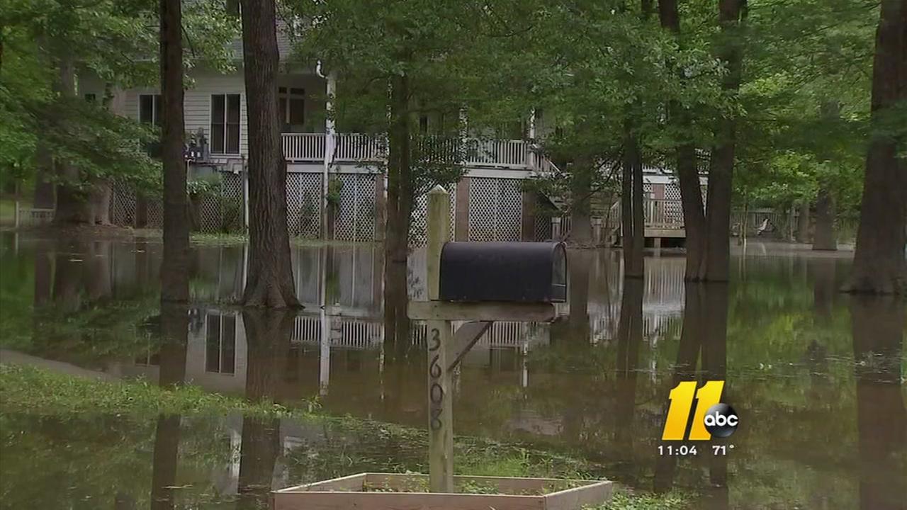Raleigh neighborhood flooding as Falls Lake water released