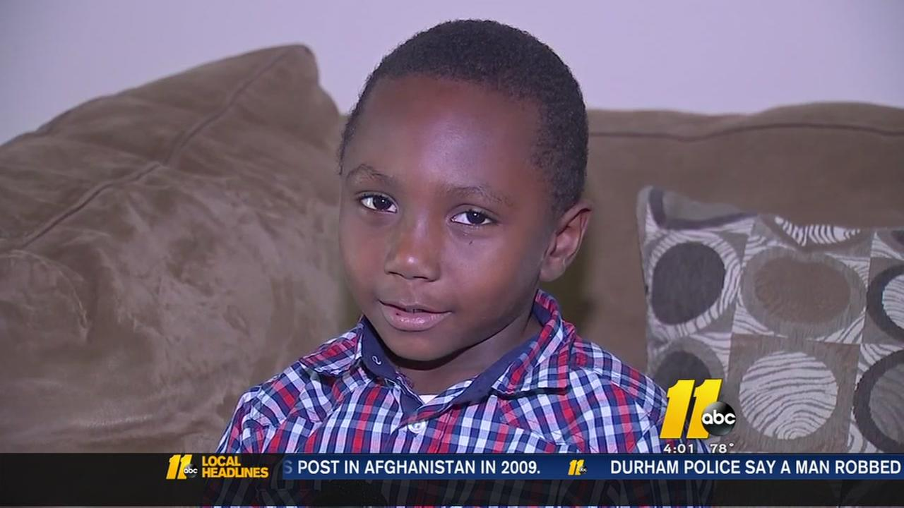 Kindergartener left on school bus