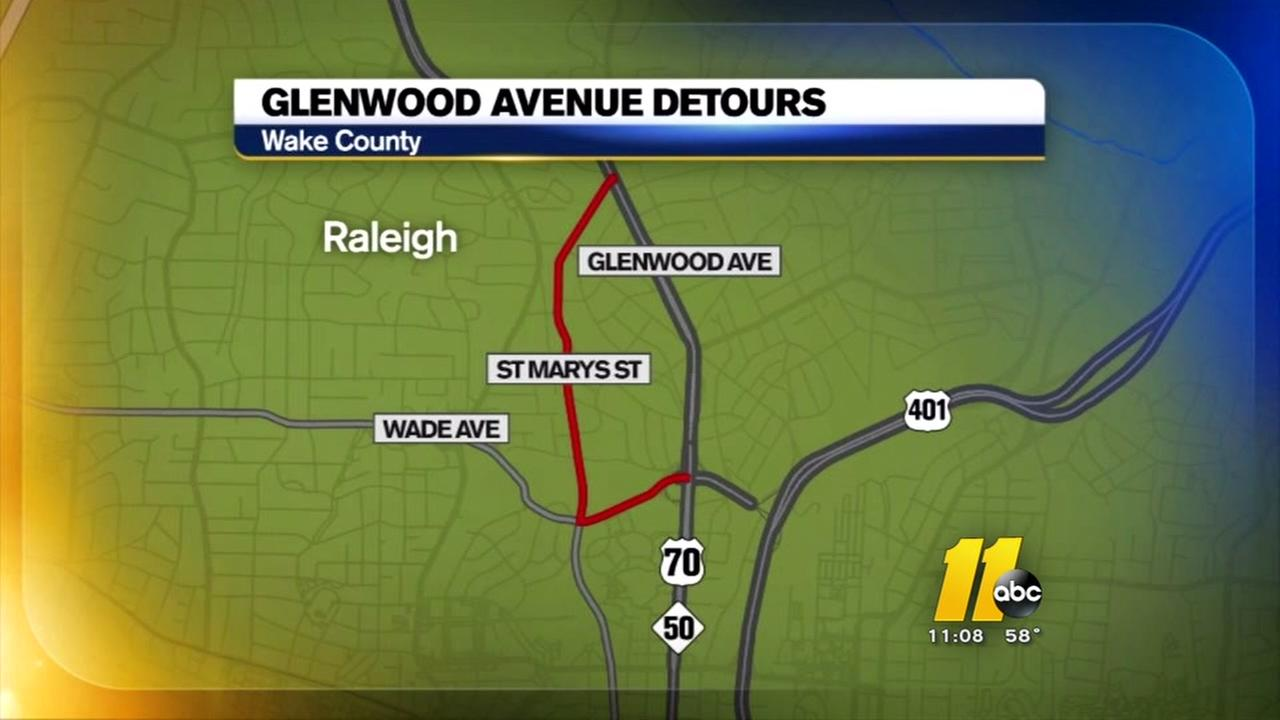 Glenwood Avenue closed for water pipe repair