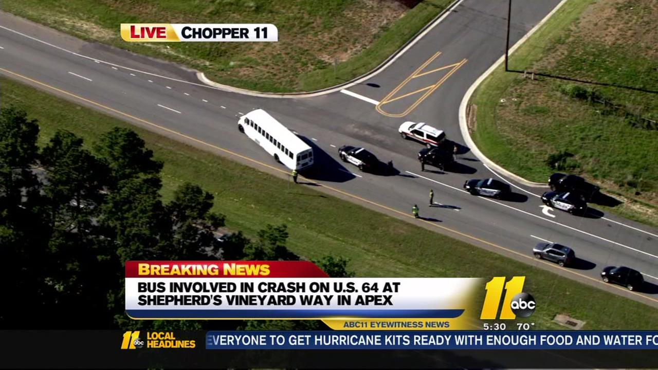 Asheboro Schools activity bus involved in Apex crash