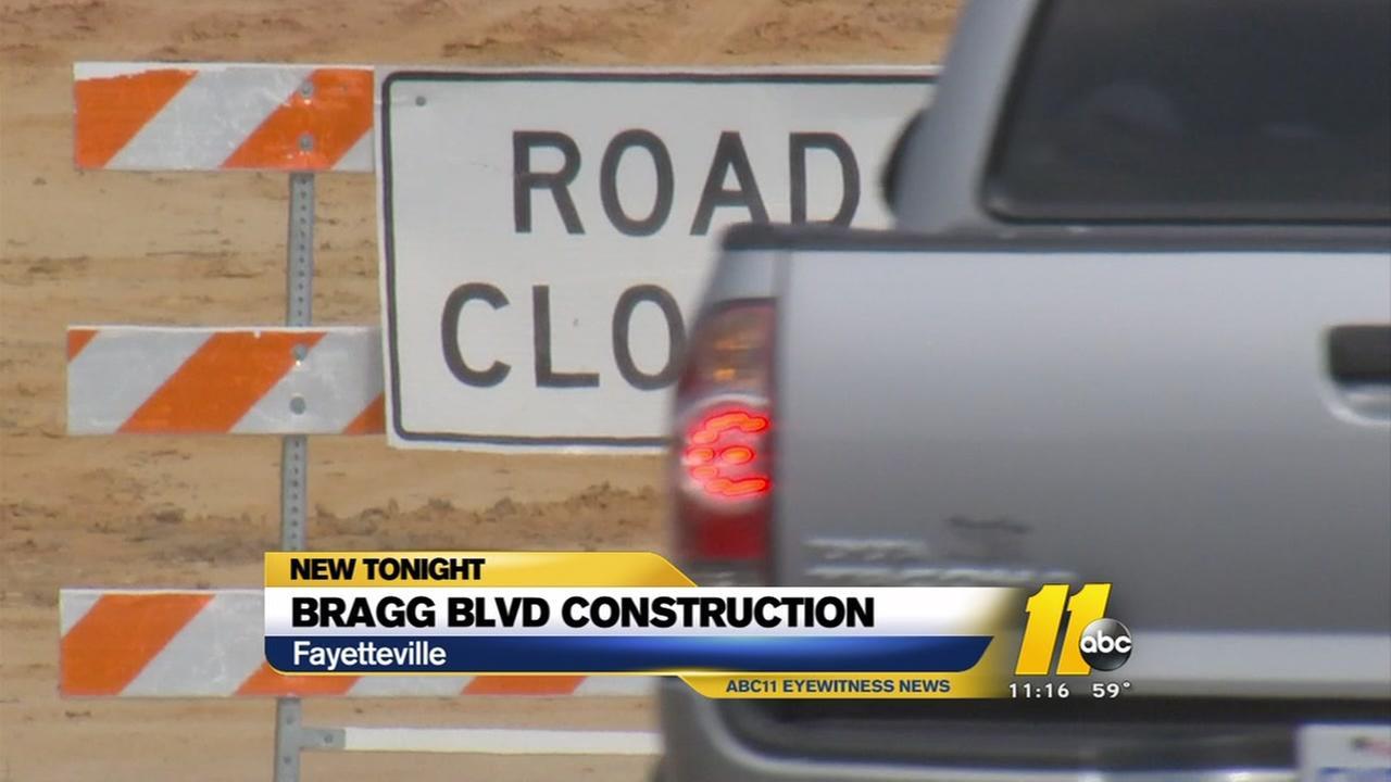 Bragg Boulevard construction to bog down traffic