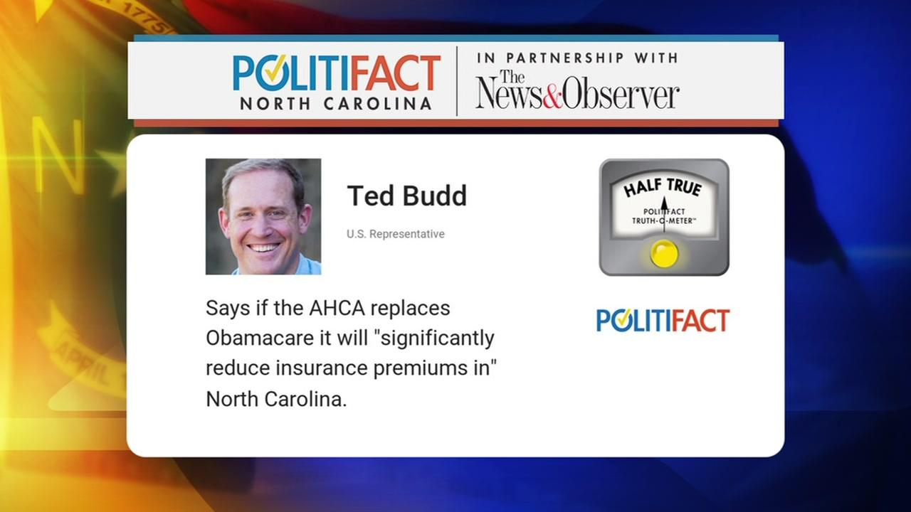Politifact: What will happen to North Carolina premiums if the AHCA replaces Obamacare?