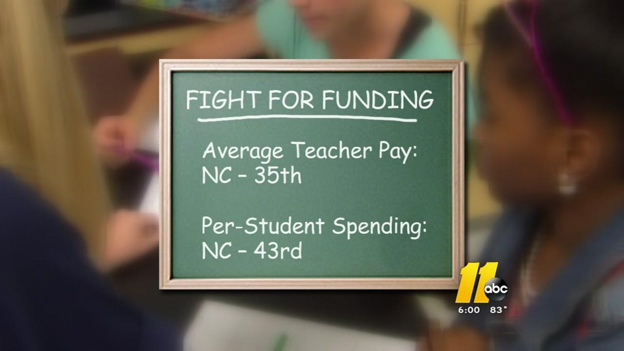 NC teachers fight for funding