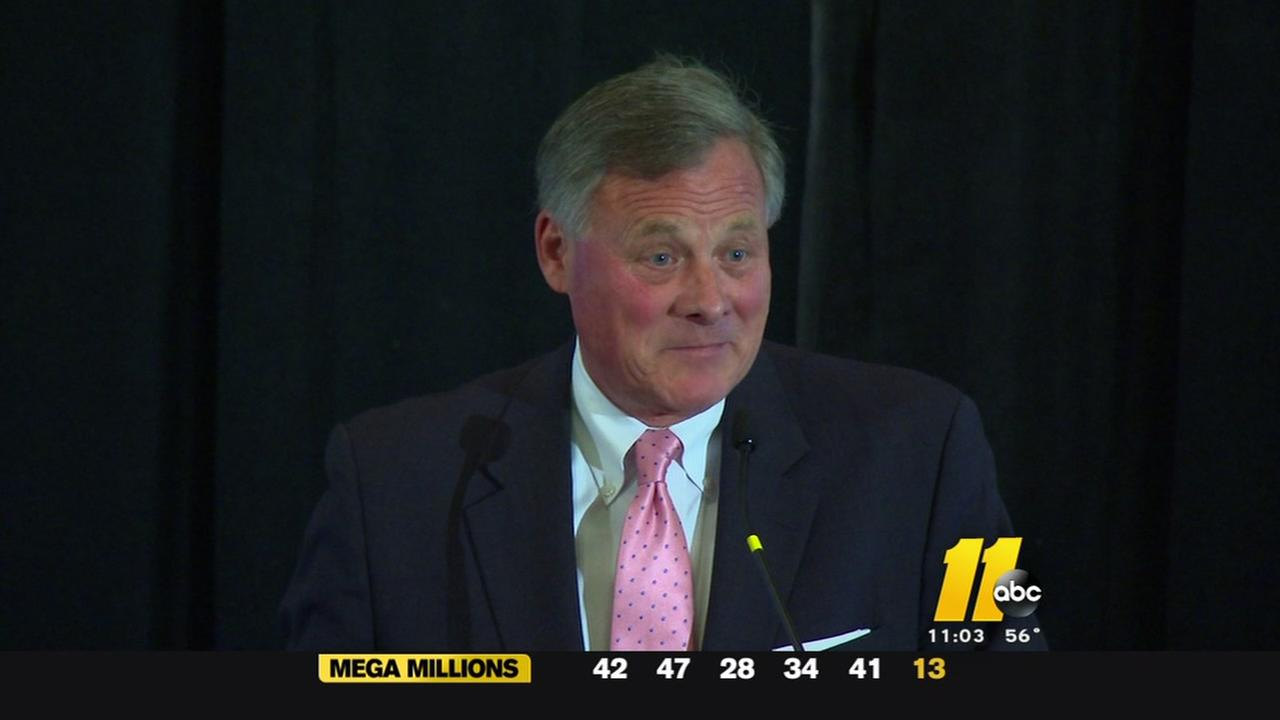 Sen. Richard Burr spoke in Raleigh on Friday