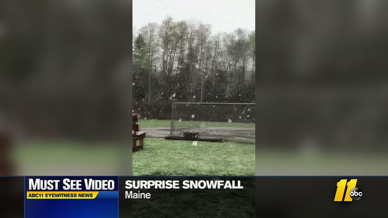 Surprise snowfall hits Maine