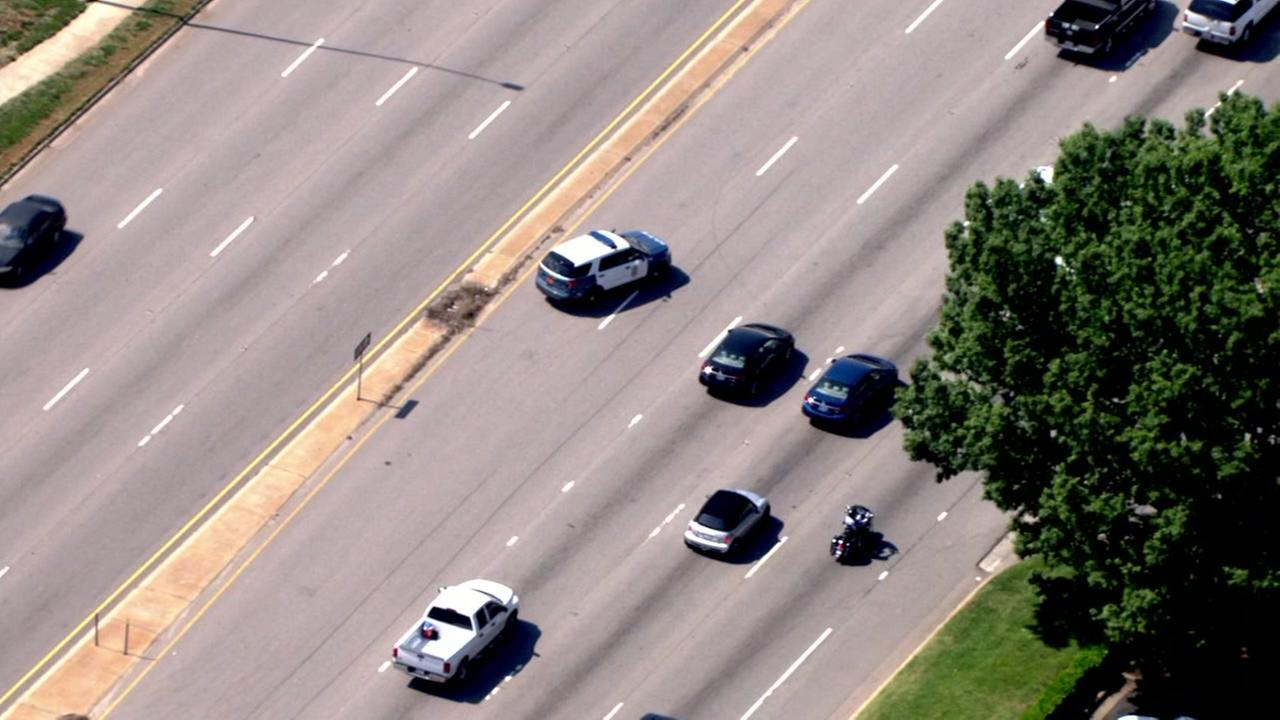 Raw video from Chopper 11 HD over Capital Boulevard where two lanes were closed after a pedestrian was struck.