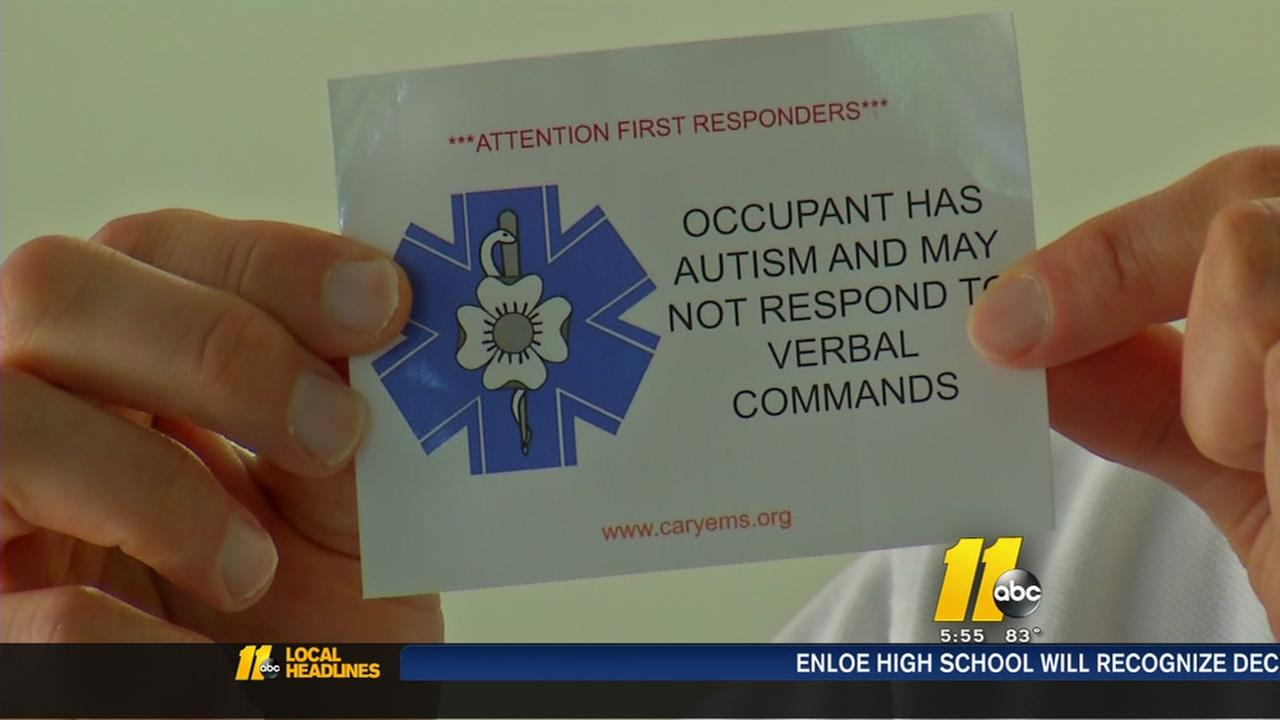 Stickers a new autism awareness tool for first responders