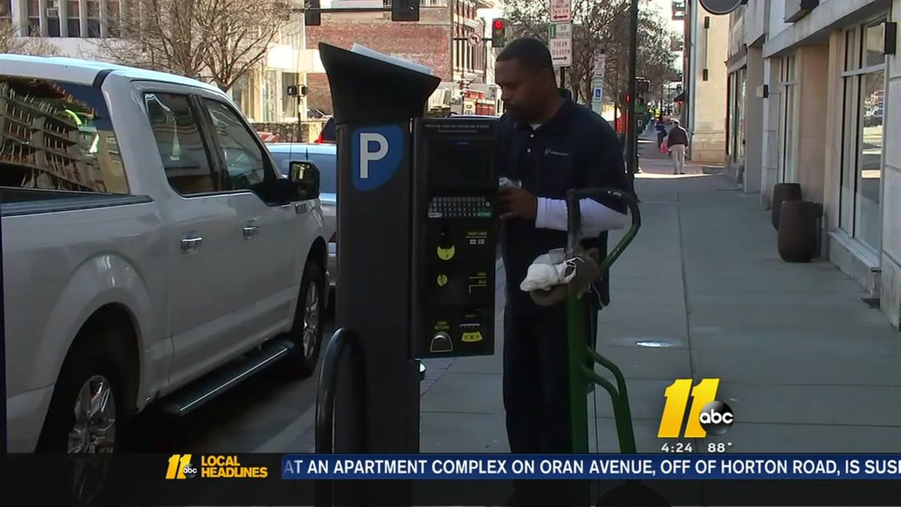 Parking meters in Durham being moved
