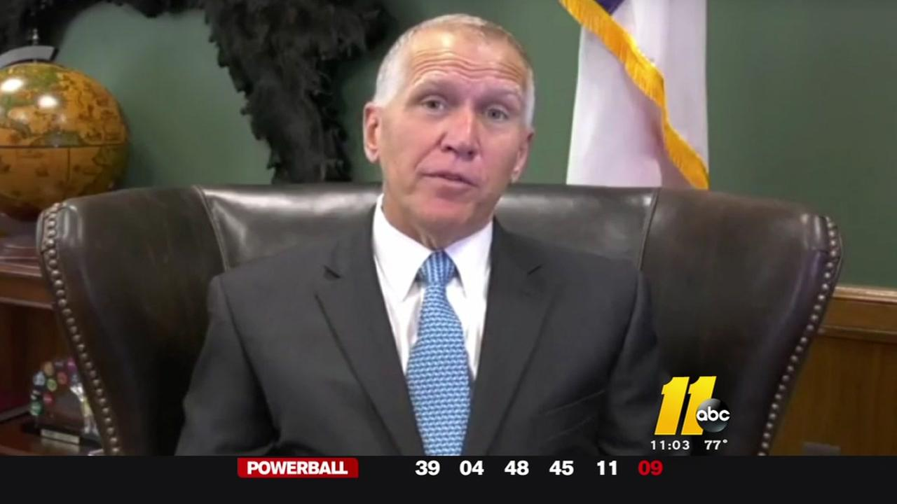 Eventful day for US Sen. Thom Tillis