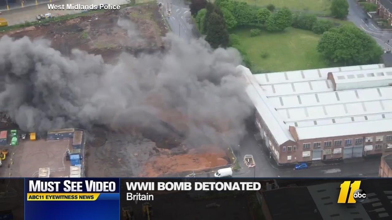 World War II bomb exploded in Britain